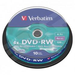 BOBINA 10 DVD-RW  VERBATIM...
