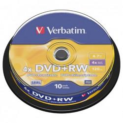 BOBINA 10 DVD RW  VERBATIM...