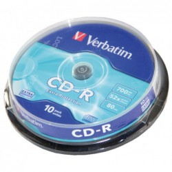 BOBINA 10 CD-R VERBATIM 52X...