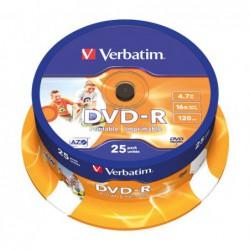 BOBINA 25 DVD-R VERBATIM...