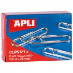 CAJA 100 CLIPS APLI Nº 1,5...