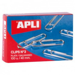 CAJA 100 CLIPS APLI Nº 3...