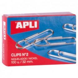 CAJA 100 CLIPS APLI Nº 2...