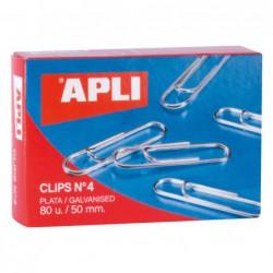 CAJA 80 CLIPS APLI Nº 4...