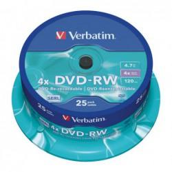 BOBINA 25 DVD-RW VERBATIM...