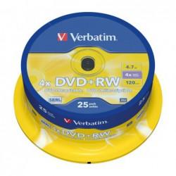 BOBINA 25 DVD+RW VERBATIM...