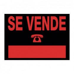 """CARTEL ANUNCIO """"SE VENDE"""""""