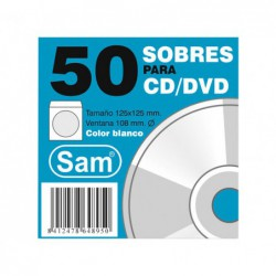 PACK 50 SOBRES SAM PARA CD/DVD