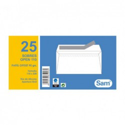 PACK 25 SOBRES SAM 110 x 220mm