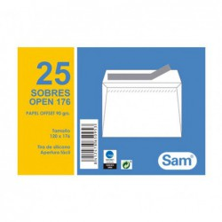 PACK 25 SOBRES SAM 120 x 176mm